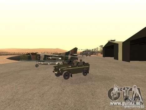 Mikojan-Gurewitsch Mig-23 für GTA San Andreas Rückansicht