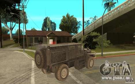 Military Truck für GTA San Andreas Rückansicht