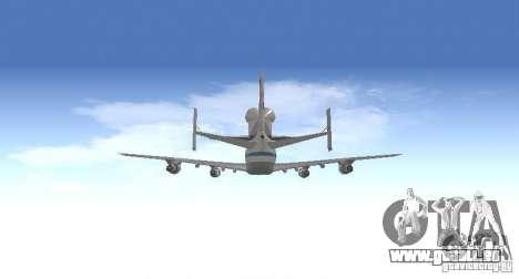 Boeing 747-100 Shuttle Carrier Aircraft für GTA San Andreas Innenansicht