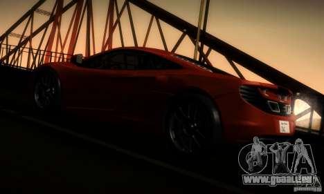 McLaren MP4-12C TT Black Revel für GTA San Andreas Rückansicht