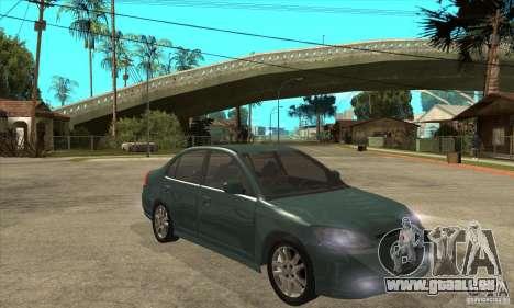 Honda Civic 2005 pour GTA San Andreas vue arrière