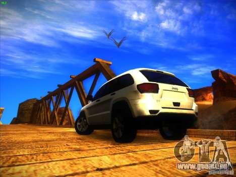 Jeep Grand Cherokee 2012 v2.0 pour GTA San Andreas laissé vue