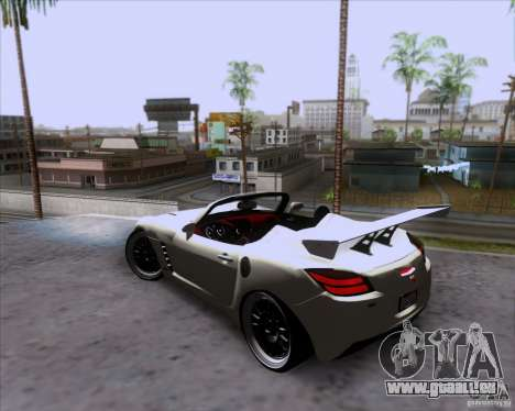Saturn Sky Roadster für GTA San Andreas obere Ansicht