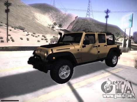 Jeep Wrangler Rubicon Unlimited 2012 pour GTA San Andreas