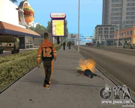 Munitions incendiaires pour GTA San Andreas quatrième écran