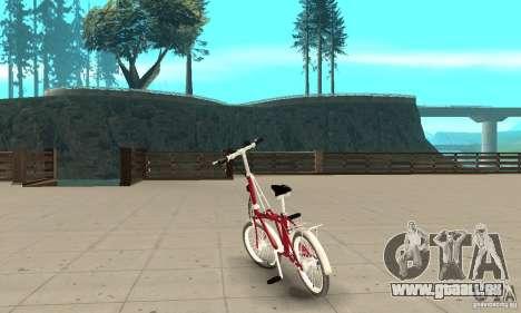 Child Bicycle pour GTA San Andreas sur la vue arrière gauche