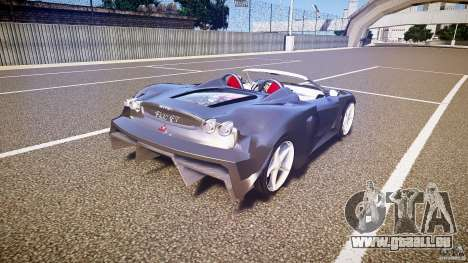 Ferrari F430 Extreme Tuning pour GTA 4 vue de dessus