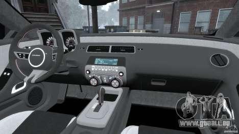 Chevrolet Camaro v1.0 pour GTA 4 vue de dessus
