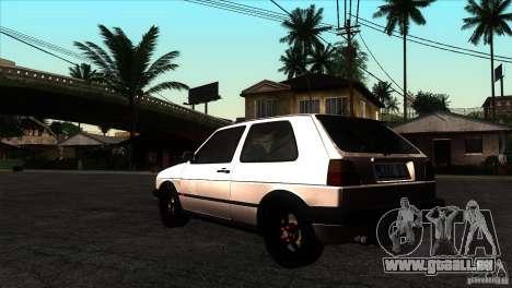 VW Golf 2 pour GTA San Andreas sur la vue arrière gauche
