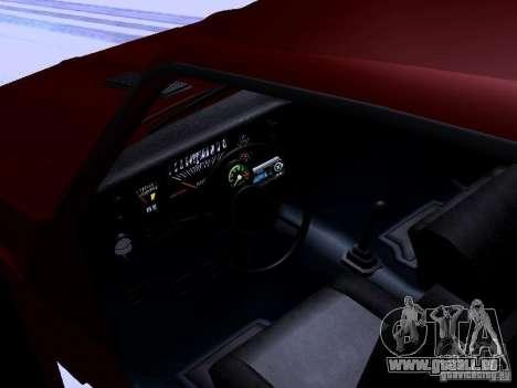 Chevrolet Nova SS pour GTA San Andreas vue intérieure