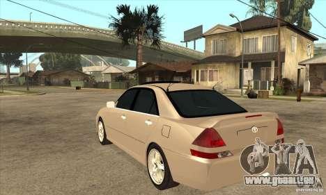 TOYOTA MARK II pour GTA San Andreas sur la vue arrière gauche