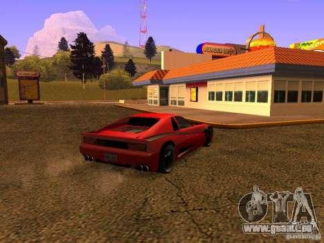 New Cheetah für GTA San Andreas linke Ansicht