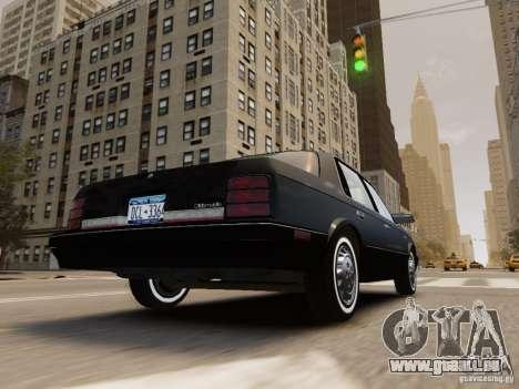 Oldsmobile Cutlass Ciera 1993 für GTA 4 Unteransicht