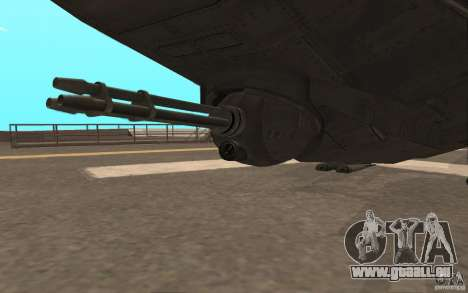 MQ Drone from BO2 pour GTA San Andreas vue arrière