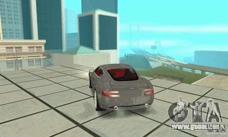 Aston Martin DB9 pour GTA San Andreas laissé vue
