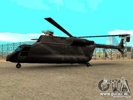 New Cargobob für GTA San Andreas linke Ansicht