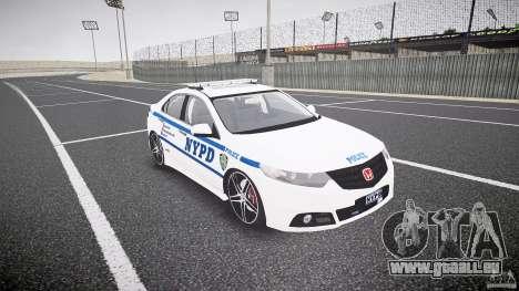 Honda Accord Type R NYPD (City Patrol 1090) ELS für GTA 4 Rückansicht