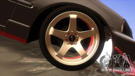 Honda Civic SI pour GTA San Andreas vue de dessous
