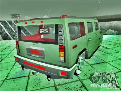 Hummer H2 Phantom pour GTA San Andreas laissé vue