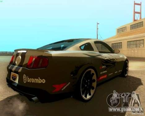 Ford Mustang Boss 302 2011 für GTA San Andreas Innen