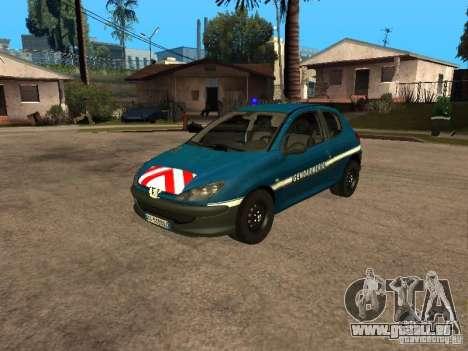 Peugeot 206 Police für GTA San Andreas