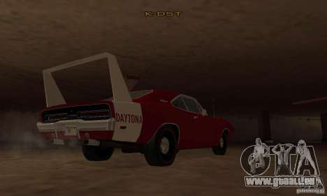 Dodge Charger Daytona 1969 für GTA San Andreas zurück linke Ansicht