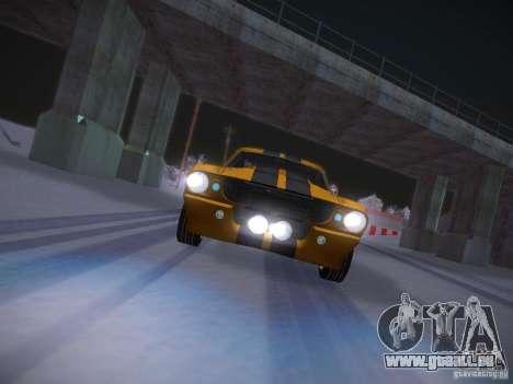 Shelby GT500 Eleanor pour GTA San Andreas vue de dessus