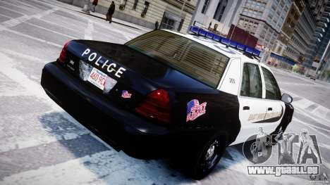 Ford Crown Victoria Massachusetts Police [ELS] pour GTA 4 Salon