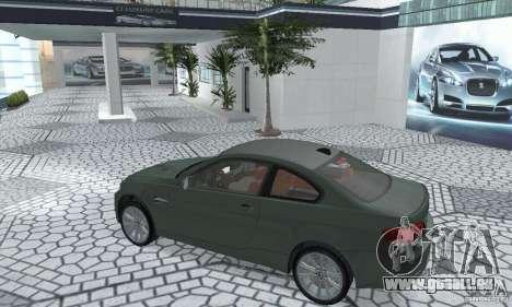 BMW M3 E92 Stock für GTA San Andreas Rückansicht