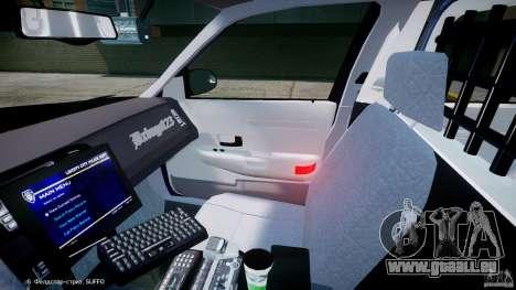 Ford Crown Victoria New York State Patrol [ELS] pour GTA 4 est une vue de l'intérieur