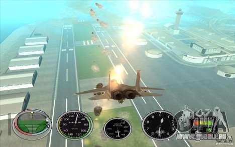 Lancement rapide de la fusée à Hydra et Hunter pour GTA San Andreas cinquième écran