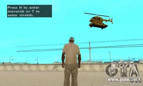 VIP TAXI pour GTA San Andreas troisième écran
