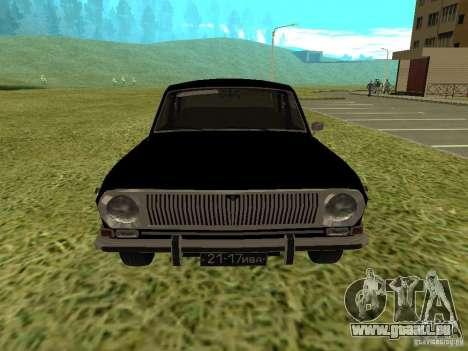 Volga GAZ-24 01 für GTA San Andreas zurück linke Ansicht