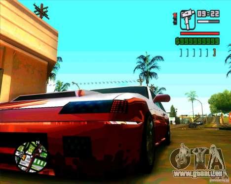 Pare-brise et nouveaux phares pour GTA San Andreas quatrième écran