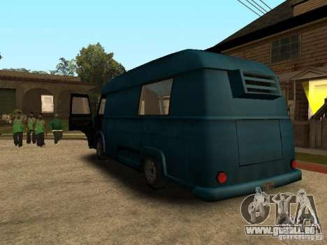 Hotdog civil Van pour GTA San Andreas laissé vue