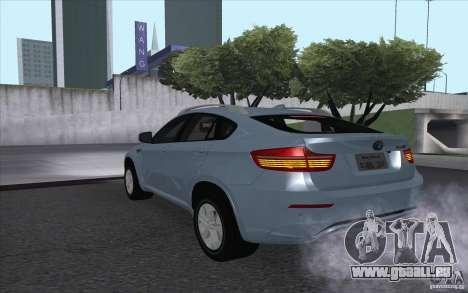 BMW X6M 2013 pour GTA San Andreas laissé vue