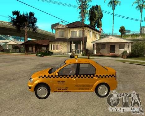 Dacia Logan Taxi Bucegi pour GTA San Andreas laissé vue