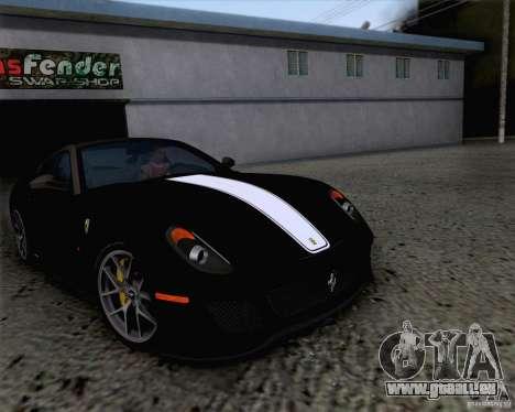 Ferrari 599 GTO 2011 v2.0 pour GTA San Andreas vue de côté