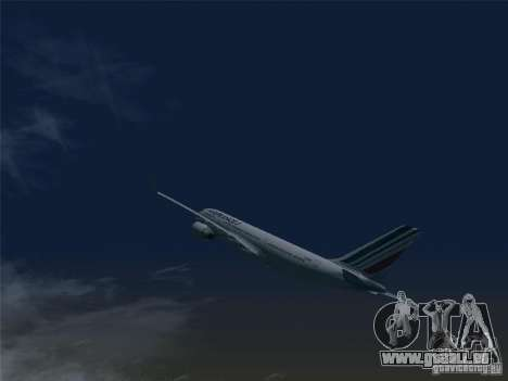 Airbus A330-200 Air France pour GTA San Andreas laissé vue