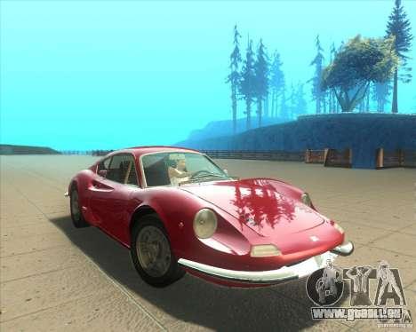Ferrari Dino 246 GT pour GTA San Andreas vue de droite