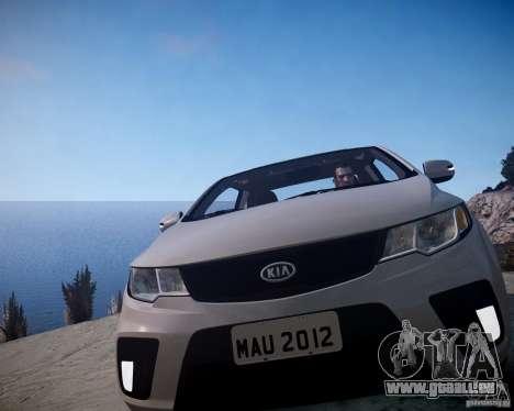 Kia Cerato Koup 2011 pour GTA 4 Vue arrière
