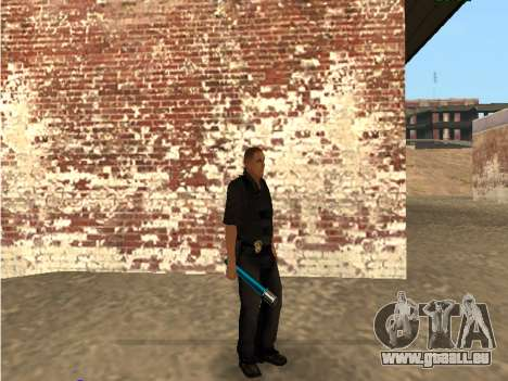 Chrome and Blue Weapons Pack pour GTA San Andreas sixième écran