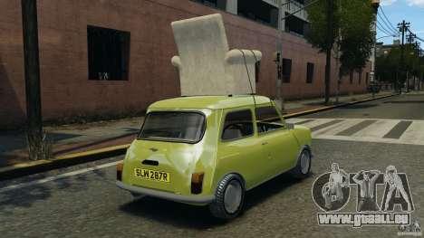 Mini Cooper pour GTA 4 Vue arrière de la gauche