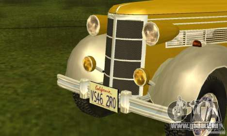 Ford DeLuxe Fordor Sedan V8 1938 für GTA San Andreas zurück linke Ansicht