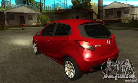Mazda 2 2011 für GTA San Andreas zurück linke Ansicht