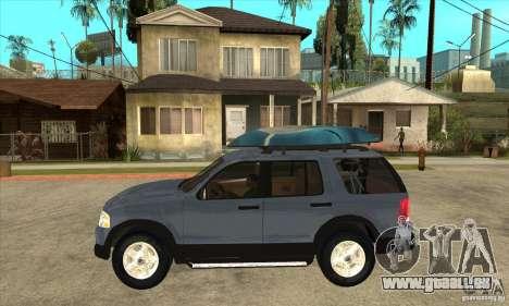 Ford Explorer 2004 pour GTA San Andreas laissé vue