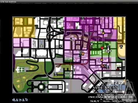 Die Schriftart der NFS-MW-v2 für GTA San Andreas siebten Screenshot