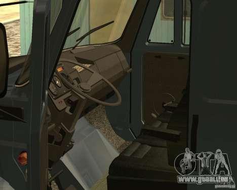 ZIL 5417 pour GTA San Andreas vue intérieure