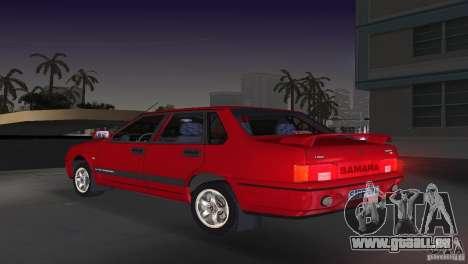 VAZ 21099 DeLuxe pour une vue GTA Vice City de la gauche