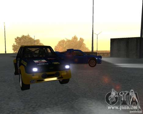 Fiat 131 Rally für GTA San Andreas linke Ansicht